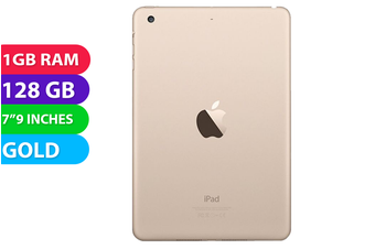 Apple iPad Mini 3 Wifi + Cellular (128GB, Gold) - As New