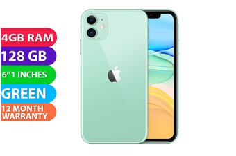Apple iPhone 11 4G LTE (128GB, Green) - FREE DELIVERY
