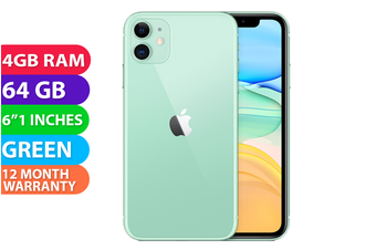 Apple iPhone 11 4G LTE (64GB, Green) - FREE DELIVERY