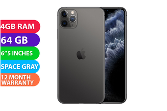 Apple iPhone 11 Pro Max 4G LTE (64GB, Space Grey) - FREE DELIVERY