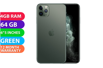 Apple iPhone 11 Pro Max 4G LTE (64GB, Midnight Green) - FREE DELIVERY