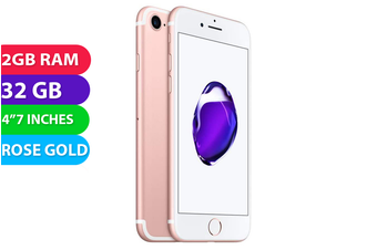 Apple iPhone 7 4G LTE (32GB, Rose Gold) - As New
