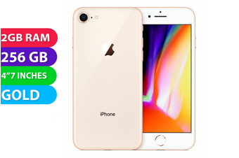 Apple iPhone 8 4G LTE (256GB, Gold) - Used as Demo