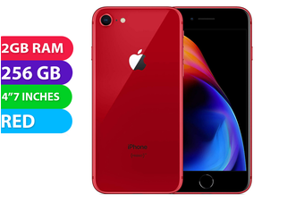 Apple iPhone 8 4G LTE (256GB, Red) - Used as Demo