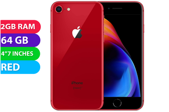 Apple iPhone 8 4G LTE (64GB, Red) - As New