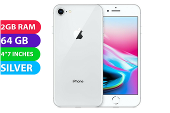 Apple iPhone 8 4G LTE (64GB, Silver) - Used as Demo