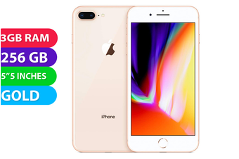 Apple iPhone 8+ Plus 4G LTE (256GB, Gold) - Used as Demo