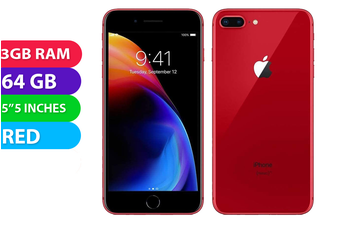 Apple iPhone 8+ Plus 4G LTE (64GB, Red) - Used as Demo