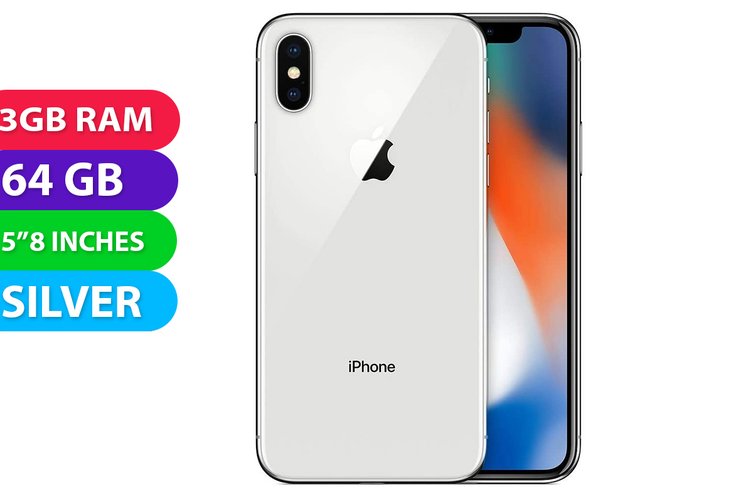 Apple iPhone X 4G LTE (64GB, Silver) - Used As Demo