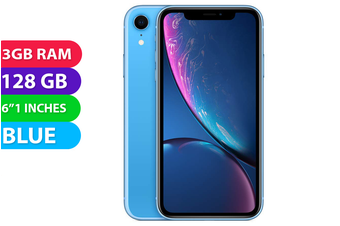 Apple iPhone XR 4G LTE (128GB, Blue) - Used as Demo