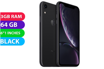 Apple iPhone XR 4G LTE (64GB, Black) - As New