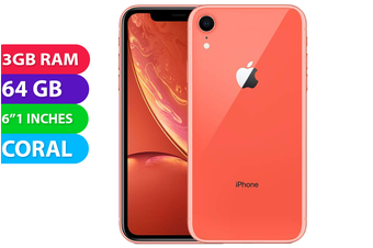 Apple iPhone XR 4G LTE (64GB, Coral) - Used as Demo