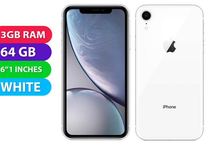 Apple iPhone XR 4G LTE (64GB, White) - Used as Demo