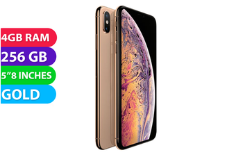 Apple iPhone XS 4G LTE (256GB, Gold) - Used as Demo