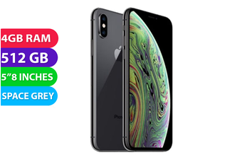 Apple iPhone XS 4G LTE (512GB, Space Grey) - Used as Demo