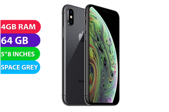 Apple iPhone XS 4G LTE (64GB, Space Grey) - Used as Demo