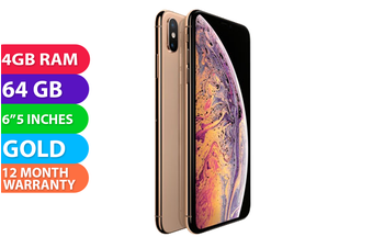 Apple iPhone XS Max 4G LTE (64GB, Gold) - FREE DELIVERY