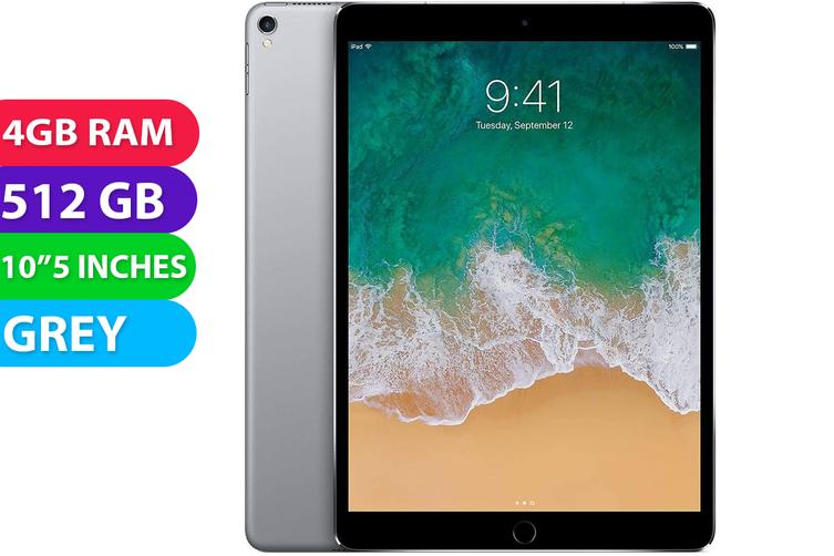 "Apple iPad PRO 10.5"" Wifi + Cellular (512GB, Space Grey) - Used as Demo"