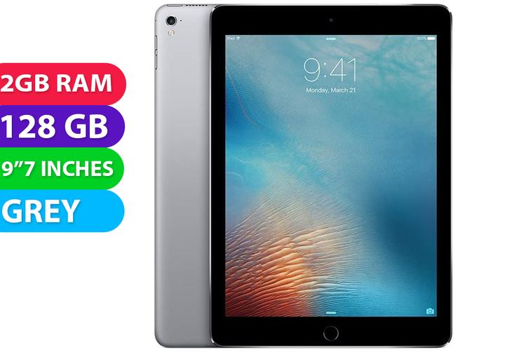 "Apple iPad PRO 9.7"" Wifi + Cellular (128GB, Space Grey) - Used as Demo"