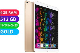 "Apple iPad PRO 10.5"" Wifi + Cellular (512GB, Gold) - Used as Demo"