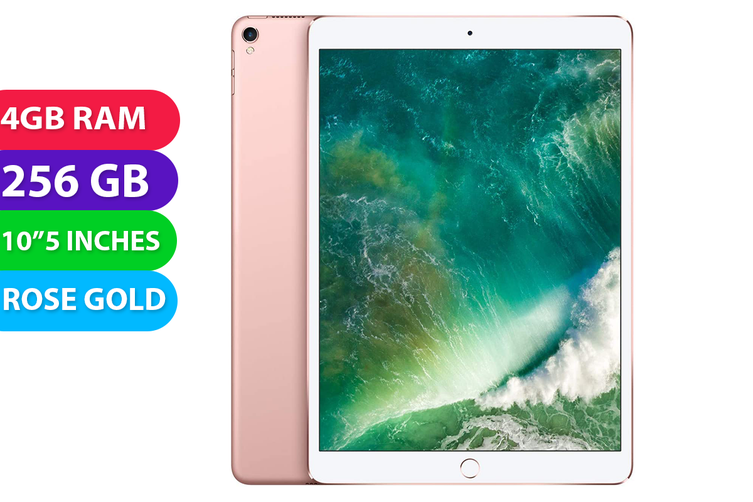 "Apple iPad PRO 10.5"" Wifi + Cellular (256GB, Rose Gold) - Used as Demo"
