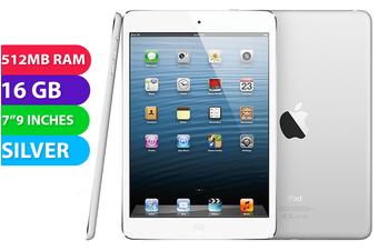 Apple iPad Mini Wifi + Cellular (16GB, Silver) - As New