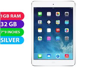 Apple iPad Mini 2 Wifi + Cellular (32GB, Silver) - As New