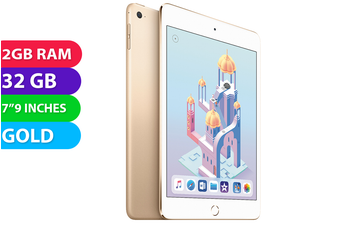 Apple iPad mini 4 Wifi + Cellular (32GB, Gold) - As New