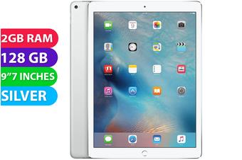 "Apple iPad PRO 9.7"" Wifi + Cellular (128GB, Silver) - Used as Demo"