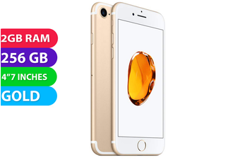 Apple iPhone 7 4G LTE (256GB, Gold) - As New