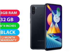 Samsung Galaxy M11 Dual SIM 4G LTE (3GB RAM, 32GB, Black) - FREE DELIVERY