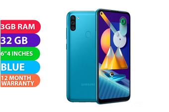 Samsung Galaxy M11 Dual SIM 4G LTE (3GB RAM, 32GB RAM, Metallic Blue) - FREE DELIVERY