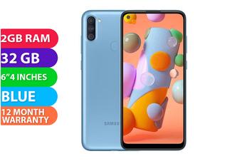 Samsung Galaxy A11 Dual SIM 4G LTE (2GB RAM, 32GB, Blue) - FREE DELIVERY