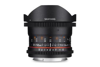 Samyang 12mm T3.1 VDSLR ED AS NCS Fisheye Lens for Canon - FREE DELIVERY