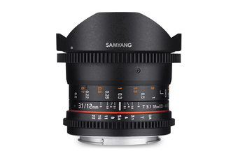 Samyang 12mm T3.1 VDSLR ED AS NCS Fisheye Lens for Sony A - FREE DELIVERY