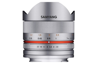 Samyang 8mm f/2.8 Fish-eye CS II Silver Lens for Sony E - FREE DELIVERY