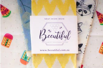 4 Pack Beeswax Food Wraps | The Beeutiful Set