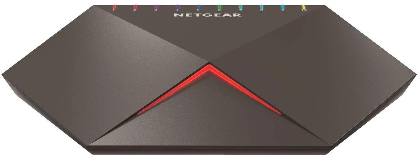 """NETGEAR  Nighthawk SX10  GS810EMX 8-port Switch with 2x 10G/Multi-Gig Uplinks NETGEAR """"Nighthawk SX10"""" GS810EMX 8-port Switch with 2× 10G/Multi-Gig Uplinks"""