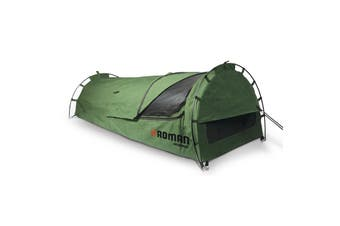 Camping Swag / Tent Roman Burke Swag Ultra-tough Canvas 2 Pole Dome ROM38012