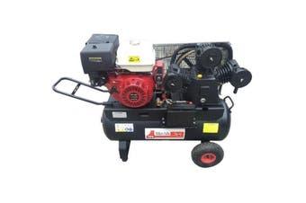 Air Compressor Petrol 13HP Engine Electric Start 28.27CFM 100L Tank 3 Cylinder