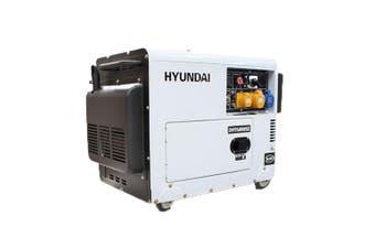 Portable Diesel Generator 6.5kVA Quiet Power 10HP Hyundai Silent Electric Start