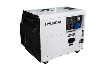 Portable Diesel Generator 8 kVA 13HP Hyundai EStart Quiet Silent Power in Canopy