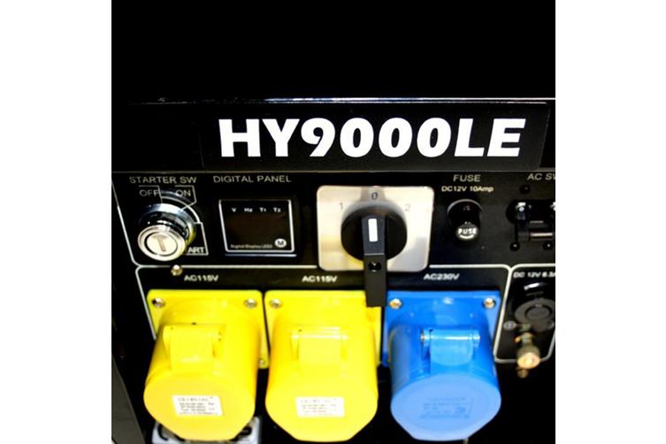Portable Generator 8kVA Petrol Powered Hyundai 15HP Electric Start HY9000LEK
