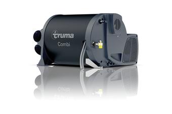 Truma Caravan Gas Heater & 240V Electric Hot Water Heater Combi 2E Black Cowl