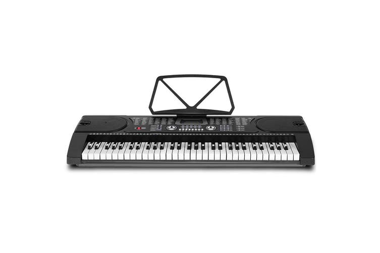 Portable Electric Piano Keyboard 61 Keys with Adjustable Stand, Sheet Holder