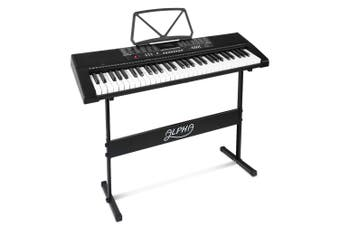 Portable Electric Piano Keyboard 61 Keys with Stand, Music Sheet Holder, Adaptor