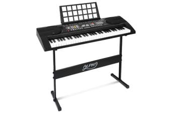 Portable Piano Keyboard Touch Sensitive 61 Keys with MIDI output & Music Stand