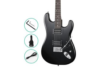 Electric Guitar Rock Style with Whammy Bar, Carry Bag - Black Colour