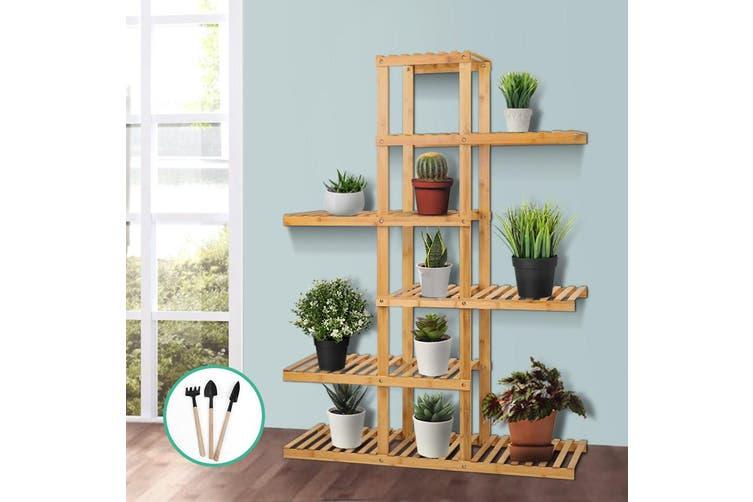Bamboo Wooden Plant Stand Garden Planter Flower Pots Stand Shelf