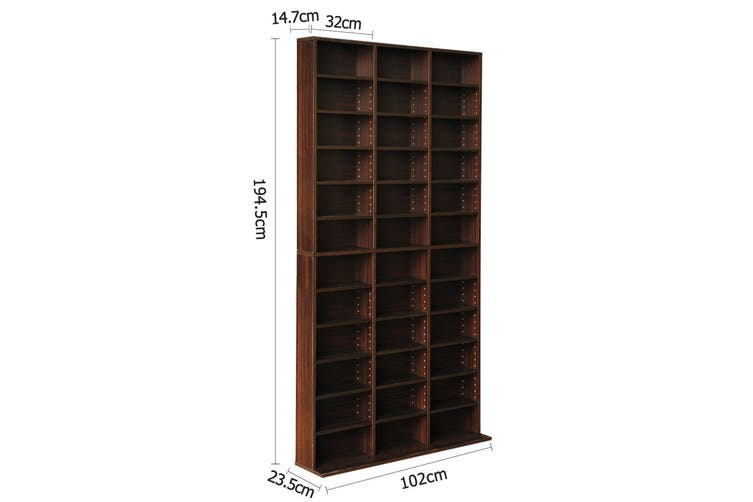 Bookshelf CD Shelf Storage - Expresso